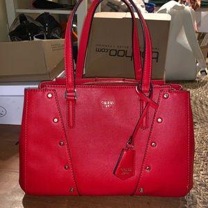 New Guess red handbag/ tote
